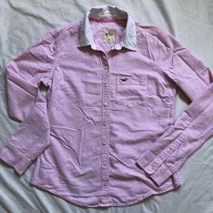3/$25 Hollister Pink Button Down Shirt